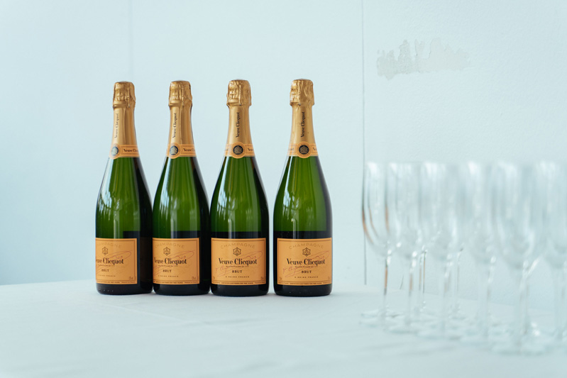 Veuve Cliquot Champagne at Outcomex Christmas Party